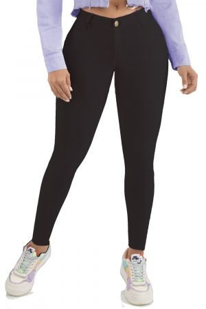 Jeans levanta cola clásico be color negro B 301