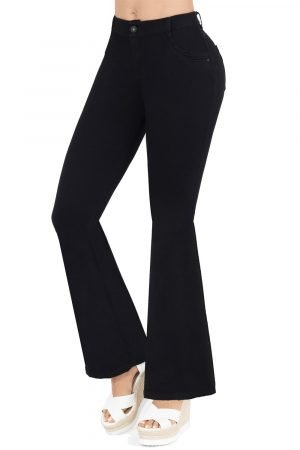 Jeans clásico negro bota campana B 1065