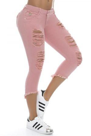 Torero color rosa con destroyed bolsillos funcionales B 122
