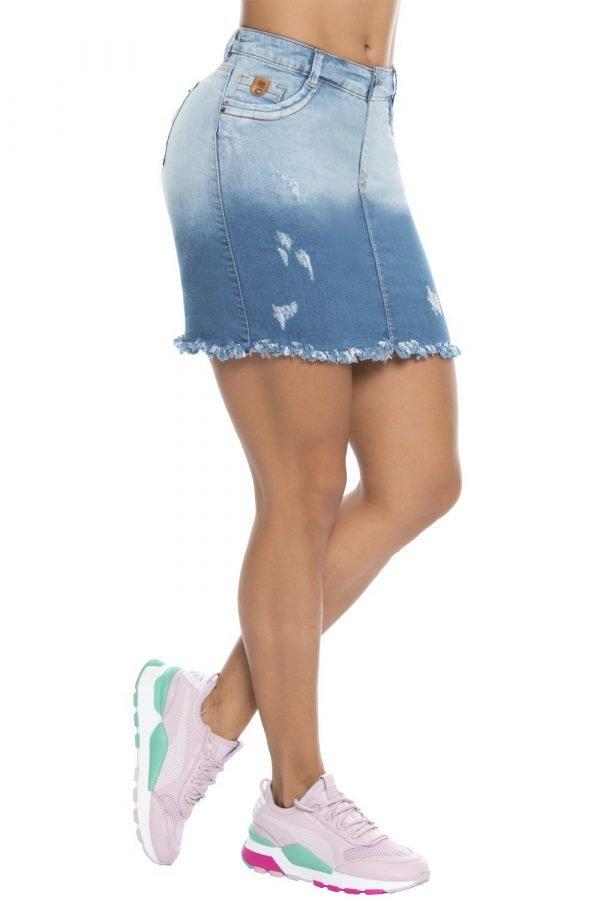 Falda con degrade y bolero B 215
