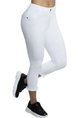 Jeans clasico blanco B 549