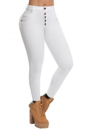 Jeans blanco clasico B 790