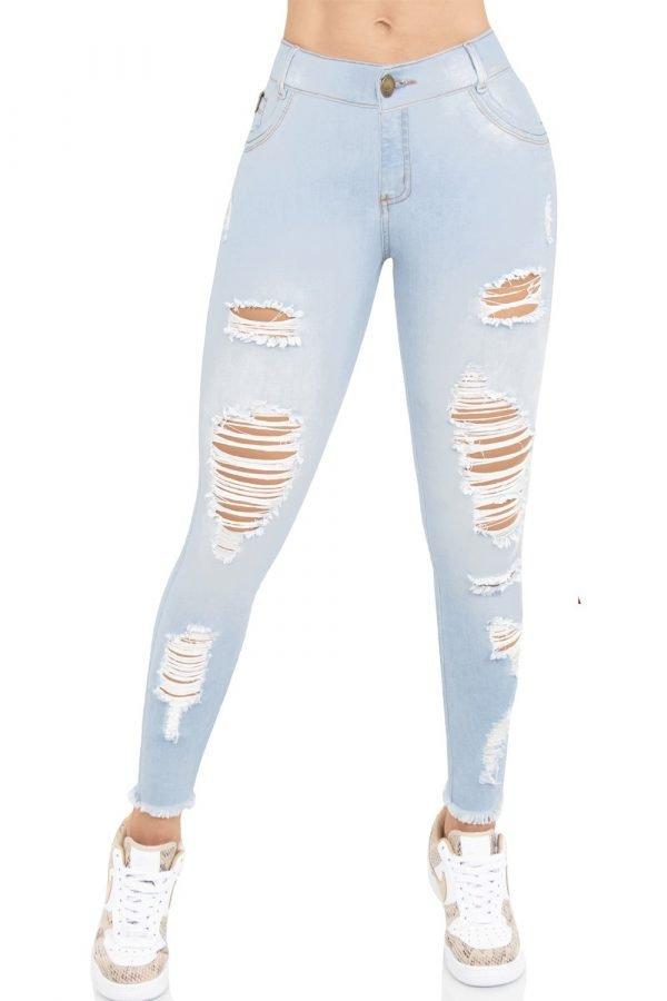 Jeans clásico con destroyed B 976