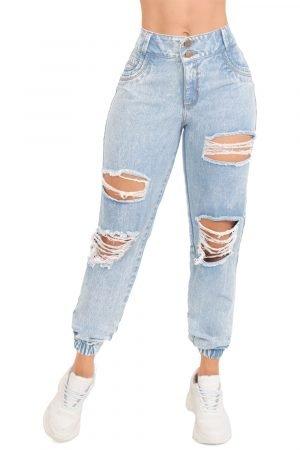 Jeans clásico azul con destroyed B 996
