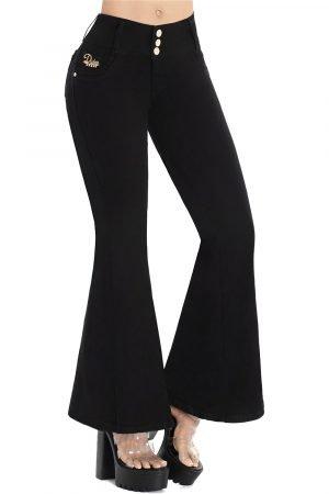 Jeans levanta cola bota campana tiro alto S 2096