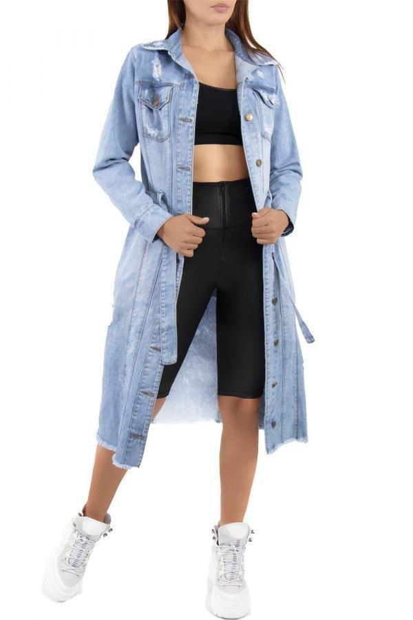 Cardigan azul con bolsillos UP 498