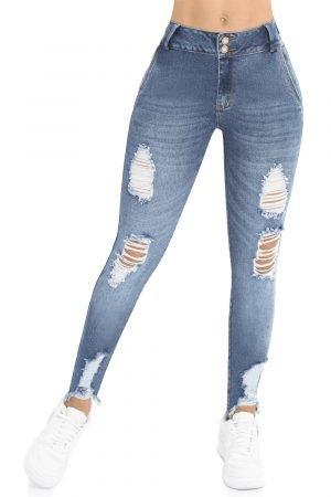 Jeans Diseño Tiro Medio Levanta Cola UP 780-1