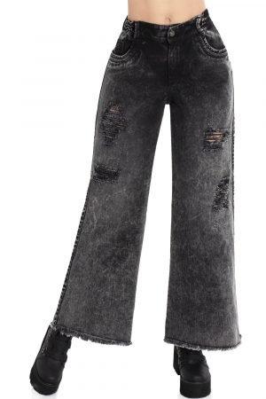 Jeans bota Palazzo con bolsillos Up 796