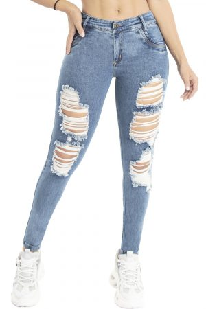 Jeans levanta cola con destroyed B-1086