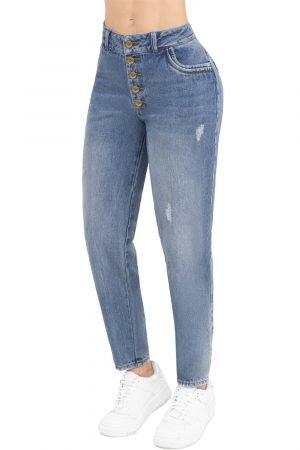 Jeans estilo jogger tiro alto B-1091