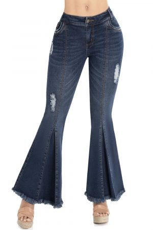 Jeans silueta ajustada efecto push up B-1098
