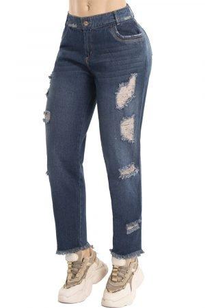 Jeans boyfriend tiro medio B 1122-1
