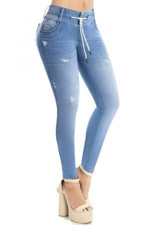 Jeans pretina alta moldeador de cintura S-2062