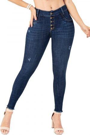 Jeans de moda colombiana tiro alto bota tubo B-1209