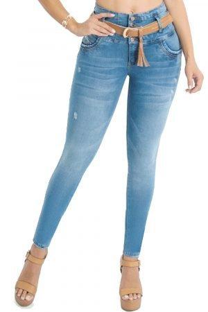 Jeans con faja interna moldeadora levanta cola JMC-100