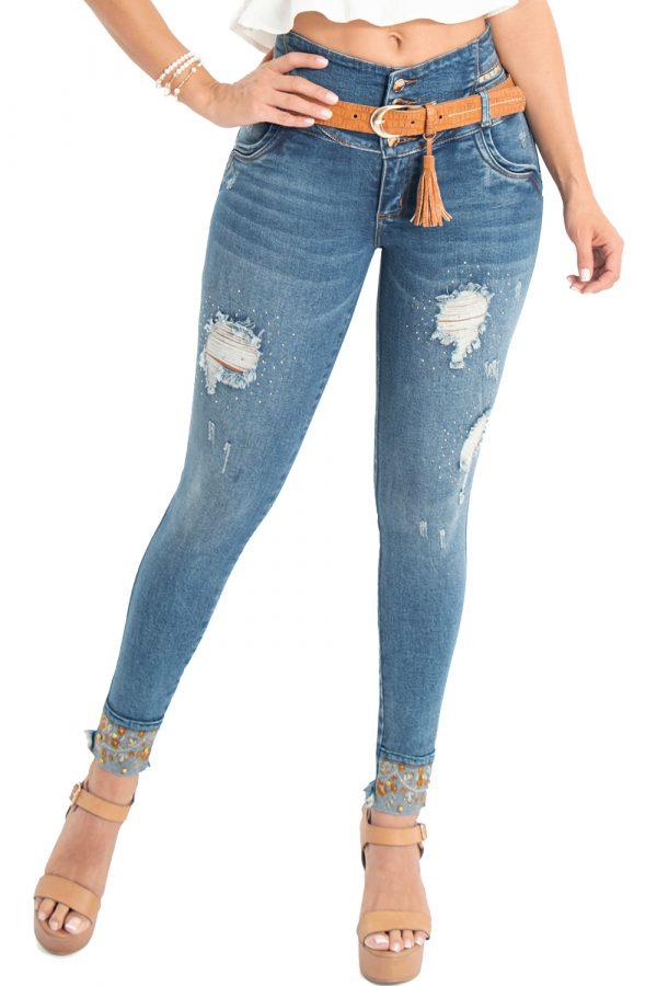 Jeans tiro alto levanta cola S-2124