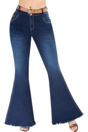 Jeans levanta cola bota campana UP-929