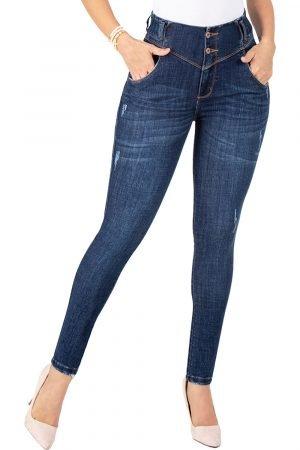 Jeans de moda colombia levanta cola tiro alto UP-937