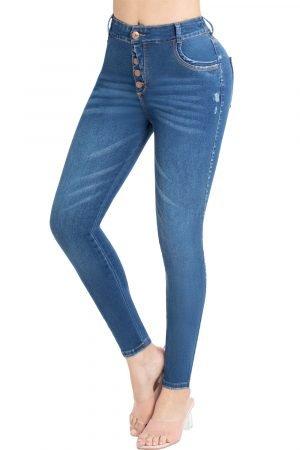 Jeans levanta cola tiro alto B-1164