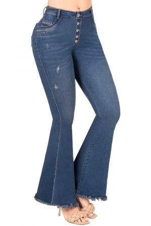 Jeans de moda colombia bota ancha B-1196