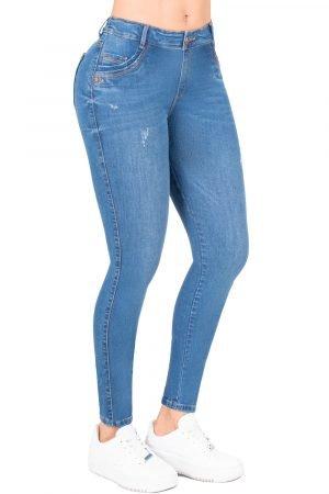 Jeans de moda colombia tiro alto B-1229