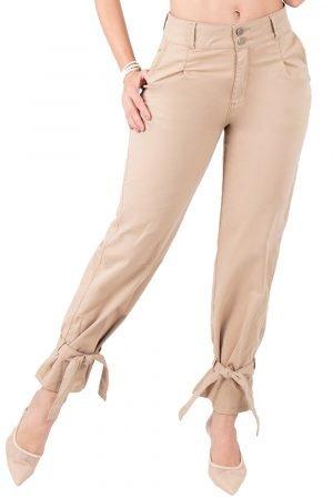 Jeans de moda colombia con correas en bota B-1263
