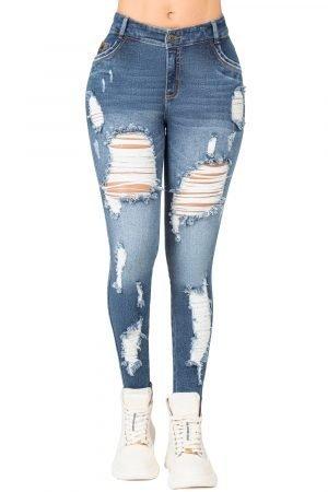 Jeans de Moda Colombia Levanta Cola con Destroyed B-1274