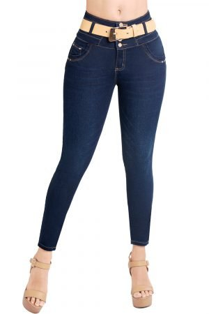 Jeans con faja interna azul oscuro JMC-133