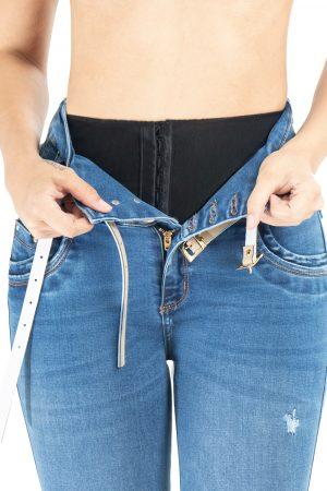 Jeans con Faja Interna Levanta Cola Tiro Alto JMC-144