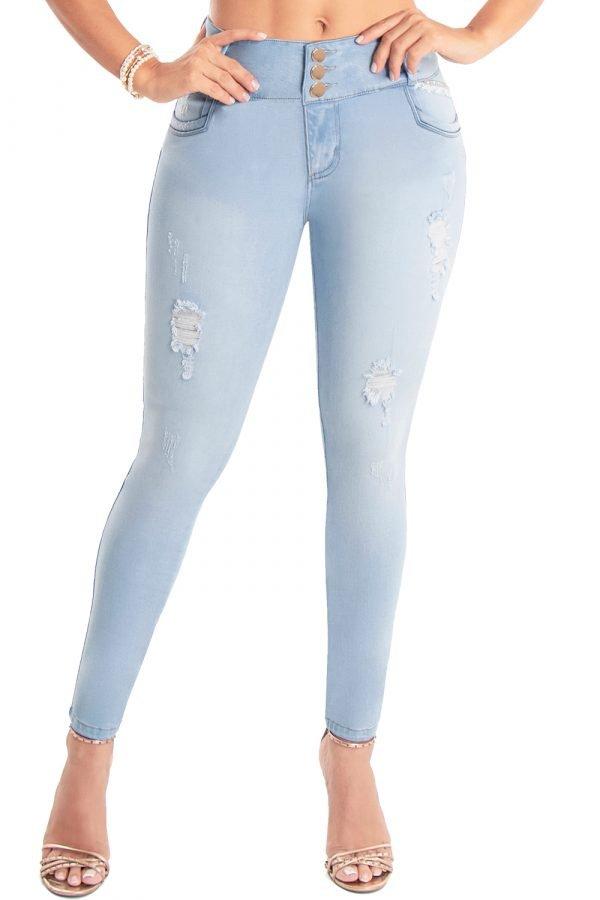 Jeans de moda colombia tiro medio S-2140