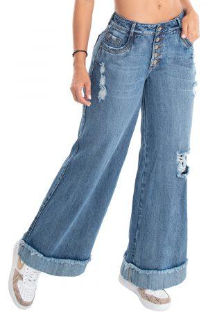 Jeans de moda colombia bota ancha UP-920