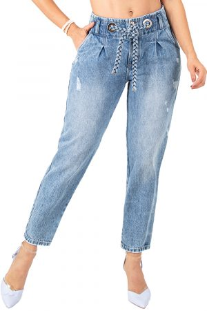 Jeans tipo baggy levanta cola UP-930