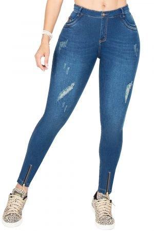 Jeans Clásico de Moda Colombia Levanta Cola B-1087