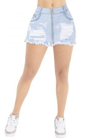 Falda Short Levanta Cola de Jeans de Moda Colombia B-1155