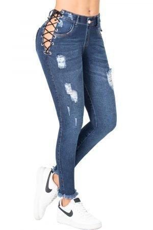 Jeans de Moda Colombia con Cordondes B-1259